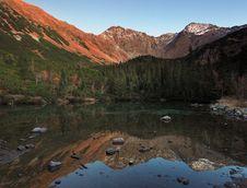 Rohace Lake - West High Tatras Stock Image