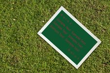 Free Chalkborad On Green Grass Royalty Free Stock Photography - 16714447