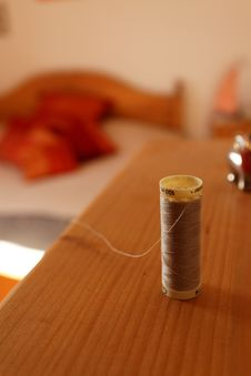 Free Cotton Thread Reel Stock Image - 16714641