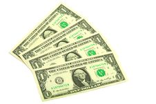 Banknotes In One Dollar Stock Images