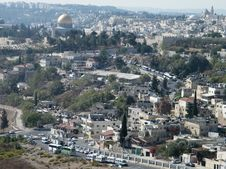 Jerusalem Houses And Roads On The Hillside 2010 Royalty Free Stock Images