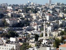 Jerusalem Houses And Minaret On The Hillside 2010 Royalty Free Stock Photography