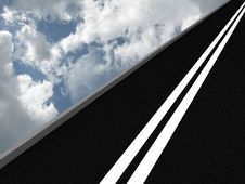 Free Road Leading Into The Sky. 3D Royalty Free Stock Photo - 16718085