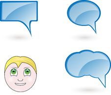 Free Vector Face With Bubbles Royalty Free Stock Image - 16718706