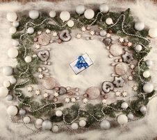 Free Christmas Frame Royalty Free Stock Photo - 16718775