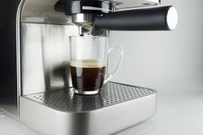 Free Coffee Machine With Glass Cup Stock Photos - 16718923
