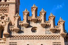 Detail Of Roof On Train Station,Toledo, Spain Royalty Free Stock Images