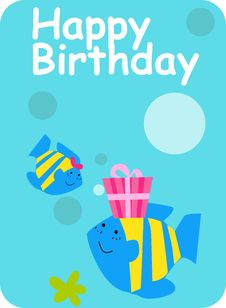Free Birthday Card Royalty Free Stock Photos - 16719168
