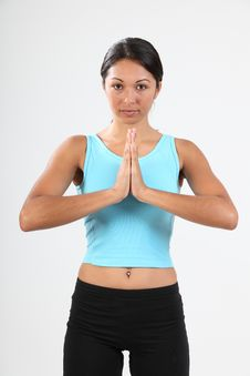 Free Beautiful Young Woman In Calm Meditating Pose Royalty Free Stock Photos - 16719318