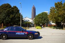 Sunny Day In Atlanta. Police Car. Stock Photography