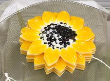 Free Jelly In The Form Of A Sunflower Stock Photo - 16719550