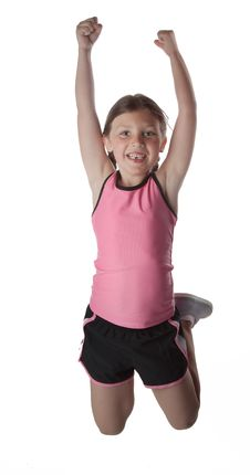 Free Healthy Jumping Girl Royalty Free Stock Image - 16719706
