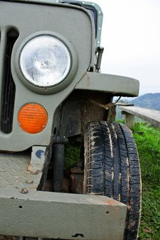 Rusty Jeep Stock Photography