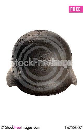 Free Rusty German Battle Helmet Royalty Free Stock Photography - 16728007