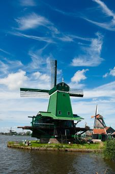 Free Windmill Landscape Stock Image - 16721091