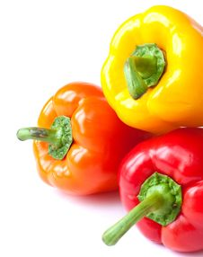 Free Capsicum. Sweet Peppers Royalty Free Stock Image - 16721376