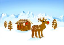 Free Rudolph Gingerbread Stock Photography - 16721602