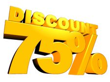 Free 3D 75 Discount Sign Stock Photos - 16722383