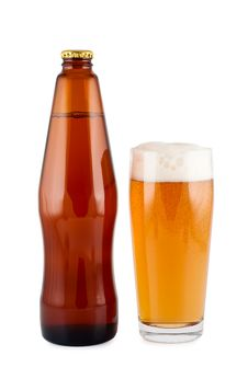 Free Beer Bottle Glass Isolated. Stock Photo - 16722570