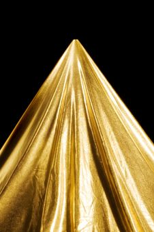 Free Abstract Gold Fabric Fold Stock Image - 16722761