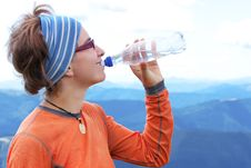 Free Hiker Drinks Royalty Free Stock Image - 16722816