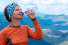 Free Hiker Drinks Royalty Free Stock Images - 16722859