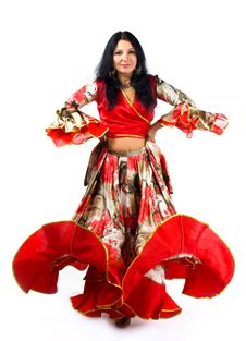 Free Woman Dance In Gipsy Costume Stock Image - 16723141