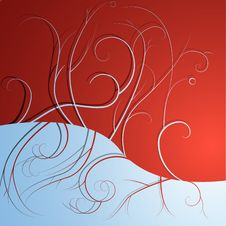 Free Vector Christmas Background / Card Royalty Free Stock Images - 16723489
