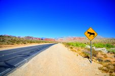 Road To Red Rock Canyon Royalty Free Stock Photo