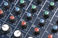 Free Mixing Board Knobs Royalty Free Stock Photo - 16724105