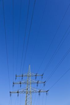 Free Electrical Power Plant And Sky Stock Photography - 16724242