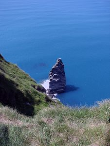 Free Lonely Rock At Cliff Of Moher Stock Photos - 16724273