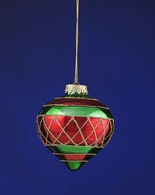 Christmas Tree Ornament Red And Green Royalty Free Stock Photography
