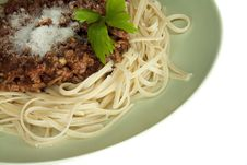 Free Italian Cuisine Pasta Bolognese Royalty Free Stock Photography - 16724477