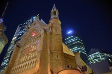 Free Night Cathedral In Brisbane Royalty Free Stock Images - 16724799