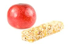 Free Muesli Snack Stick And Plum Royalty Free Stock Image - 16725066