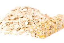 Free Muesli Snack Stick And Oat Flakes Stock Image - 16725071