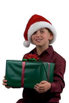 Free Boy With Gift Stock Photos - 16725103