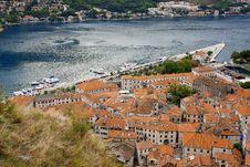 Panorama Of Kotor Bay, Montenegro Royalty Free Stock Image