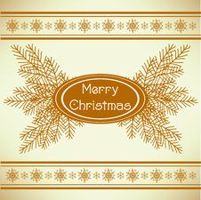 Free Marry Christmas Vintage Greeting Card Stock Photo - 16725310