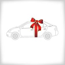 Free Gift Car Royalty Free Stock Photography - 16725487