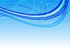 Free Blue Line Abstraction Royalty Free Stock Photo - 16725505