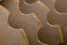 Rusty Wheel Pow Stock Photo