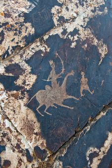 Free Petroglyph Carved Into Rock Surface Royalty Free Stock Image - 16725586