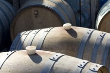 Free Wine Barrels Royalty Free Stock Image - 16725606