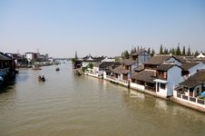Free Chinese Ancient River Town Royalty Free Stock Photos - 16725938