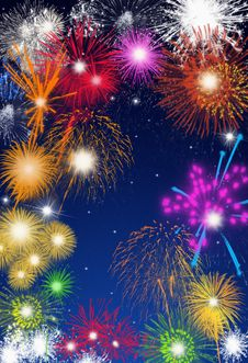 Free Colorful Fireworks Stock Image - 16726311