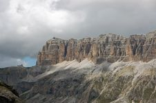 Free Massif Sella In Italian Dolomites. Royalty Free Stock Images - 16726889