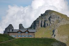 Refuge In Alps. Royalty Free Stock Images