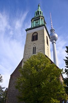 Free Church And TV Tower Stock Photos - 16727163
